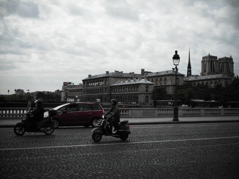 Paryż zperspektywy nosa