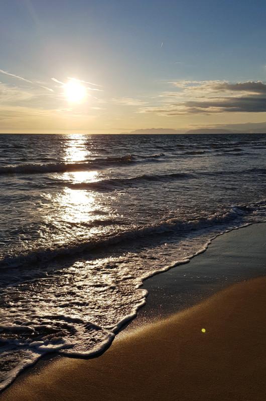 Lido di Camaiore zachód słońca